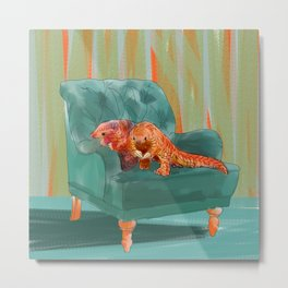 animals in chairs #5 the Pangolin Metal Print