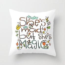 Mad Magic Throw Pillow