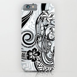 Polynesian FLORAL Tribal Threads iPhone Case