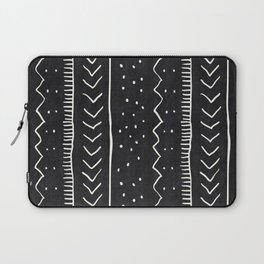 Moroccan Stripe in Black and White Laptop Sleeve