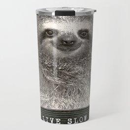 Sloth in a Mugshot Travel Mug