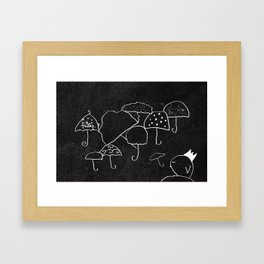 Umbrellas Framed Art Print