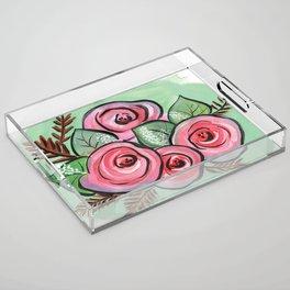 Roses for my Valentine Acrylic Tray