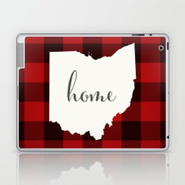 Ohio is Home - Buffalo Check Plaid Laptop & iPad Skin