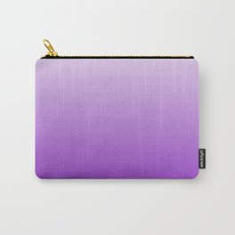 White to Violet Gradient Carry-All Pouch