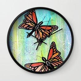 Butterfly Dance Wall Clock
