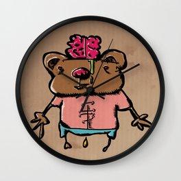 Pee Brains Wall Clock