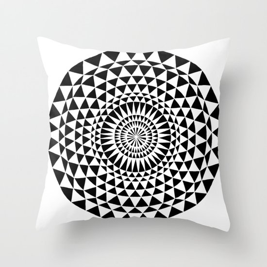 Sun in B&W Throw Pillow