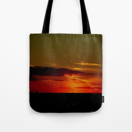 There's a Feeling I Get When I Look to the West #2 (Chicago Sunrise/Sunset Collection) Tote Bag