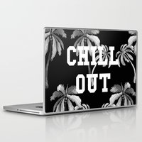 tupac Laptop & iPad Skins featuring Chill Out by Text Guy