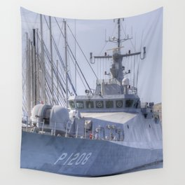 Turkish Navy Tuzla Class Patrol Boat Wall Tapestry