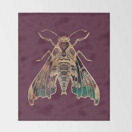 Sphinx Moth Throw Blanket