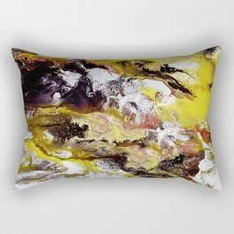 Unicorn in the magic forest, acrylic on canvas, abstract Rectangular Pillow