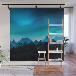 Night Storm In The Mountains Wall Mural