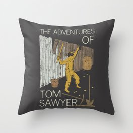 Books Collection: Tom Sawyer Throw Pillow