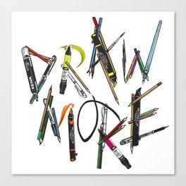 Draw More (Color) Canvas Print