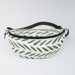Watercolor knitting pattern  - green Fanny Pack