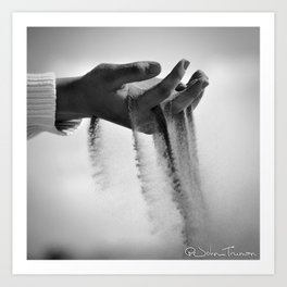 Through her fingers Art Print