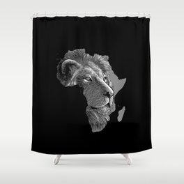 King of africa Shower Curtain