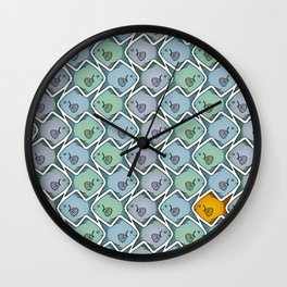 Looking for the gold fish Wall Clock