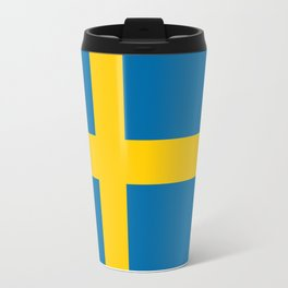 Flag of Sweden - Authentic (High Quality Image) Travel Mug