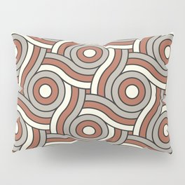 Circle Swirl Pattern Ever Classic Gray 32-24 Red River 4-21 and Dover White 33-6 Pillow Sham