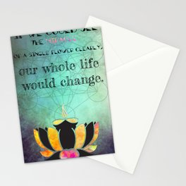 Zen Art Inspirational Buddha Quotes  Stationery Cards