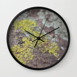 Colors on Rocks Wall Clock