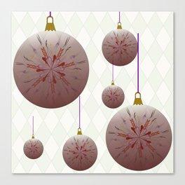 Xmas bulbs & diamonds Canvas Print
