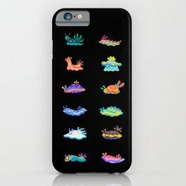 Sea slug - black iPhone Case