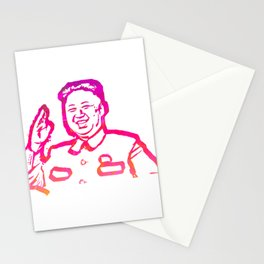 Abstract Kim Jong Un Stationery Cards