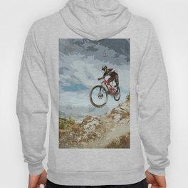 Flying Downhill on a Mountain Bike Hoody