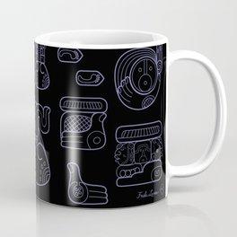 Picto-glyphs Story--Negro Coffee Mug