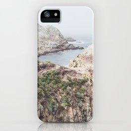 Salt Flats   Misty Foggy Landscape Photography of California Ocean Coast iPhone Case