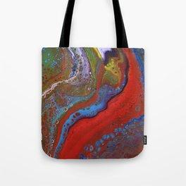 Fluid Acrylic X Tote Bag