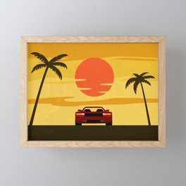Sunset Cruising Framed Mini Art Print