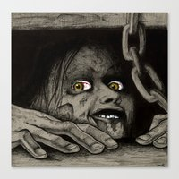 evil dead Canvas Prints featuring Evil Dead by Jamile B. Johnson