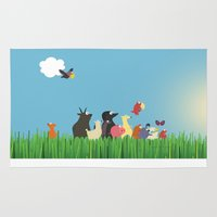 What's going on the farm? Kids collection Rug