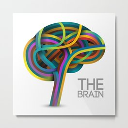 The brain Metal Print
