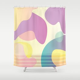 Funky Abstract Pattern Shower Curtain