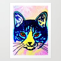 Pop Art Cat No. 2 Art Print