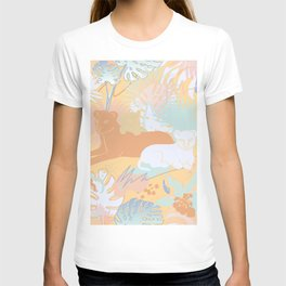 Spring Jungle Cats T-shirt