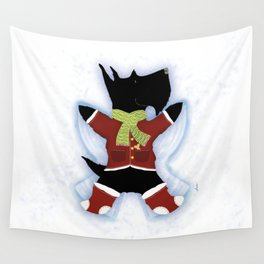 Scottie Snow Angel  Wall Tapestry
