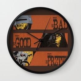 Spaghetti Western Cyborgs Wall Clock