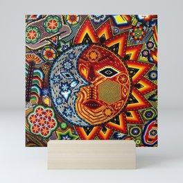 HUICHOL SUN MOON Mini Art Print