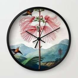 Large Flowering Sensitive Plant The Temple Of Flora Wall Clock