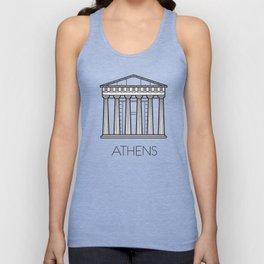 Acropolis Athens Greece Black and White Unisex Tank Top