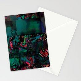 Flora Celeste Jade Glitch Stationery Cards