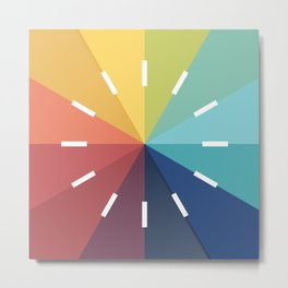 Modern Color Wheel Metal Print