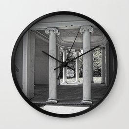 Vintage Parthenon Pillars Wall Clock
